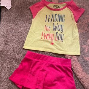 New balance baby outfit with skirt 💗